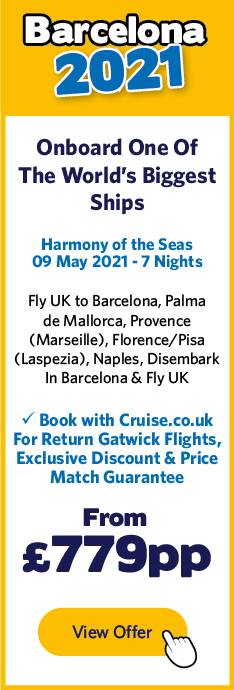 Harmony of the Seas - 9 May 21 - 7 Nights