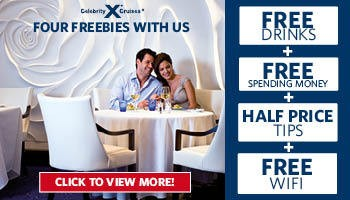 Celebrity Cruises Four Freebies With Us