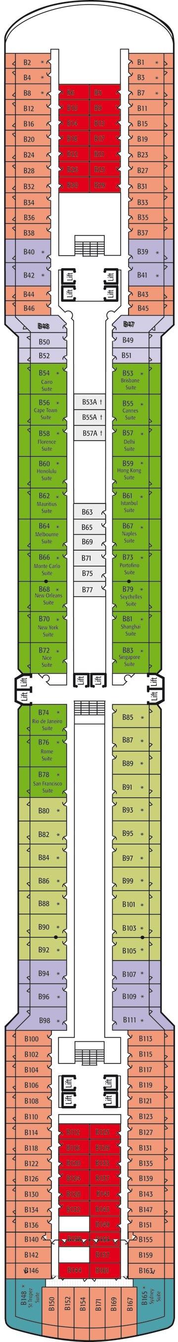 Pando cruises arcadia deals reviews more b deck deck plan baanklon Gallery