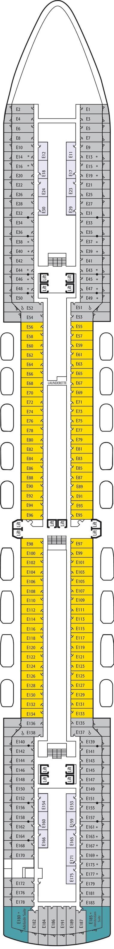 E deck deck plan for Arcadia deck plans
