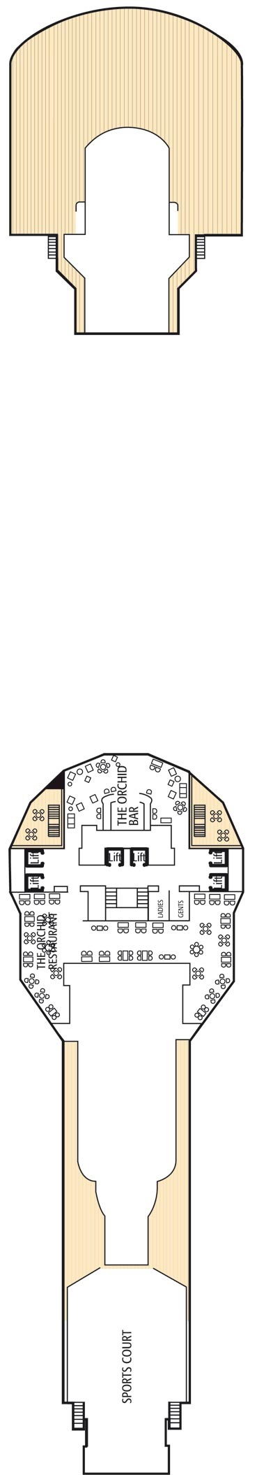 Sky deck deck plan for Arcadia deck plans