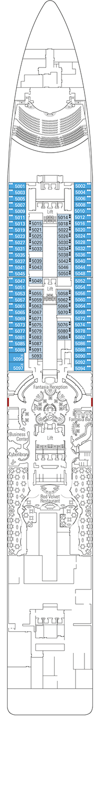 Fantasia Deck Plan