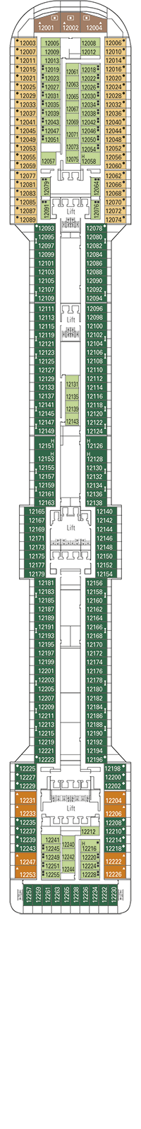 Incanto Deck Plan
