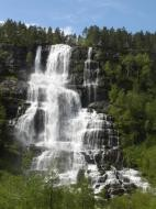 One of many fantastic waterfalls in Norway. | ,