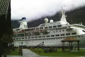 mv discovery berthed at flam 8/5/14