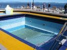 empty swimming pool for the last full day at sea!