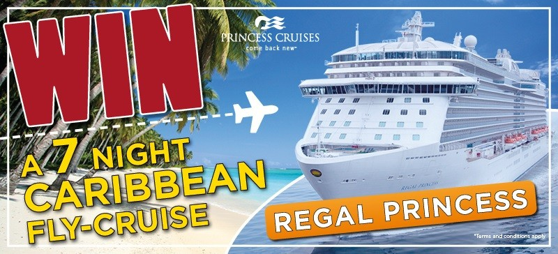 Win a Caribbean cruise on-board Regal Princess
