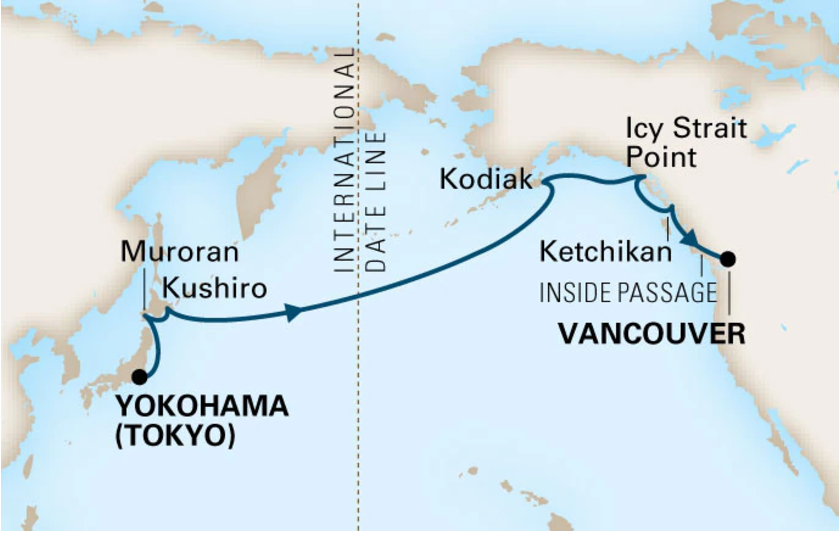 Icy Strait Point Alaska Map.Www Cruise Co Uk Cruise And Stay Tailor Made Holland America