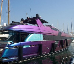 Our other boat moored in Cannes