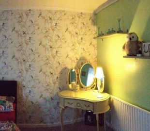 And we returned home to this! A newly decorated bedroom !