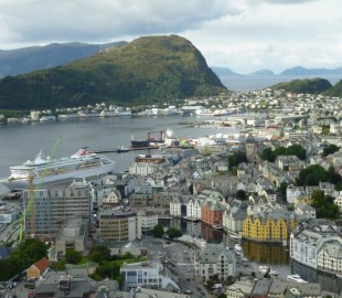 The Balmoral in Alesund - from a great height!