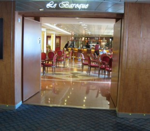 The La Boroque coffee lounge.  Only place on the ship where you get a chocolate with your coffee!