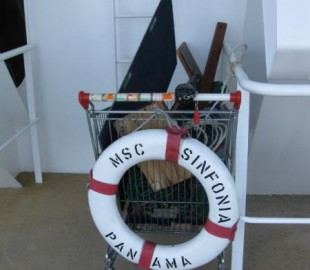 The trolley used by the crew in port with all their equipment stored found on the lifeboat deck