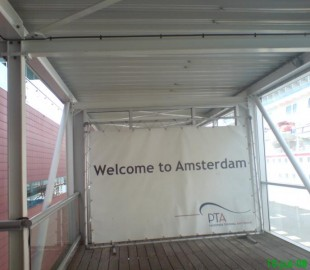 Welcome to Amsterdam sign