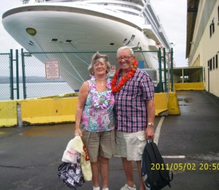 My Husband and myself (Beryl and John Clayton) on Golden Princess with Princess Cruises in May 2011 on our Hawaii Cruise  we had a wonderful time and we are in our 70s
