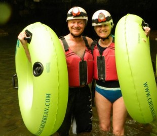 Cave tubing excursion whilst cruising on Carnival Dream in 2012
