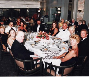 Dinner on the captain's table on board the Emerald 1999