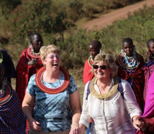 Trying to dance with the Masai