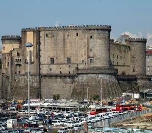 Castle next to Naples port entrance