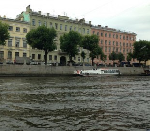 St Petersburg, on the river