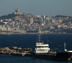 View of central Marseille when leaving the cruise terminal