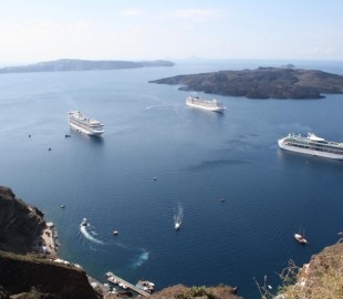 The view was worth the scary donkey ride. Santorini