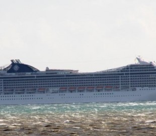 MSC Magnifica off the Isle of Wight heading into Southampton.