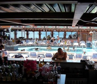 LIDO Bar at the stern of the ship