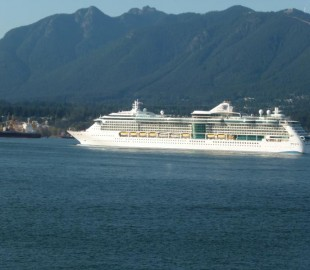 Radiance of the seas leaving Vancouver