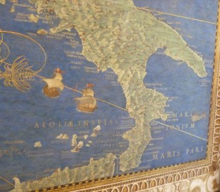 Vatican tapestry - of our recent route