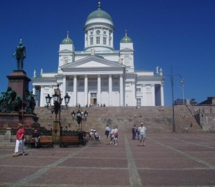 Senate Square, and cathedral, Helsinki, Finland