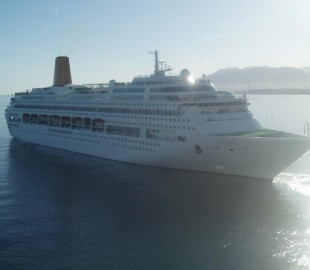 Oriana departs Malaga, taken from Legend of the Seas