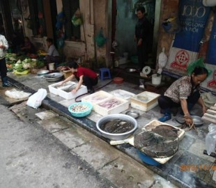 Cooking on the street is part of the life in Vietnam it makes walking smell amazing