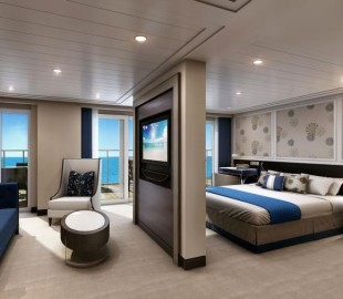 One of the 85 upper suites on Seven Seas Explorer - The Penthouse Suite