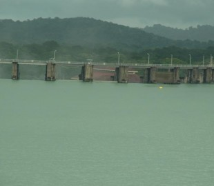 The Huge Dam on the river which supplies all of the water to operate the Panama Canals Locks, taken in Nov; 2010