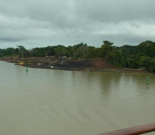 Work being undertaken on Gatun Lake in widening of the Channels, to enable Ships to pass either way in the Panama Canal, taken in Nov; 2010
