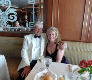 A romantic dinner on our first cruise