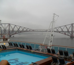Forth Bridge on a very wet day
