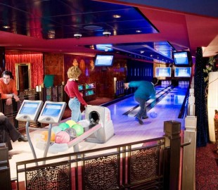 Bowling Alley Onboard the Norwegian Pearl