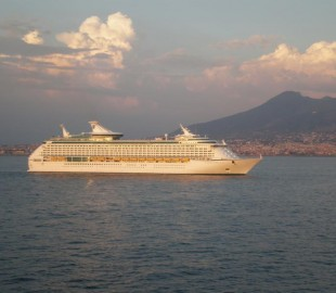 Taken fron the Norwegian Gem RCI Voyager of The Seas Leaving Livorno August 2008