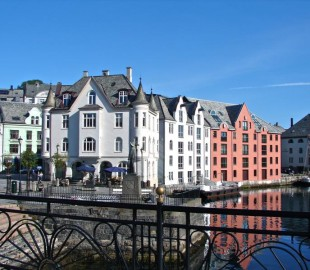 Alesund on a quiet Sunday