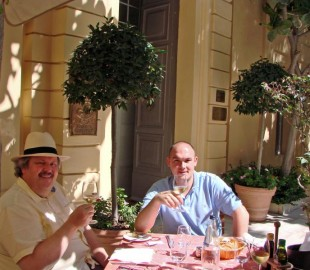 Al fresco lunch at the Xara Palace in Mdina  - a wonderful venue.