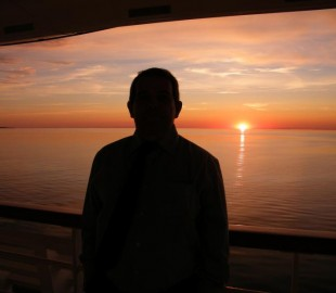 Sunset in the Baltic on board MS Balmoral