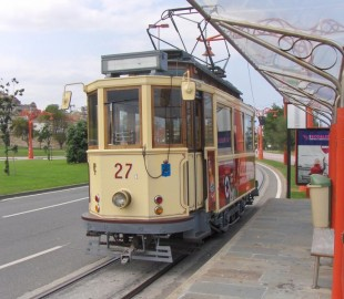 A tram in La Coruna (€2 single)