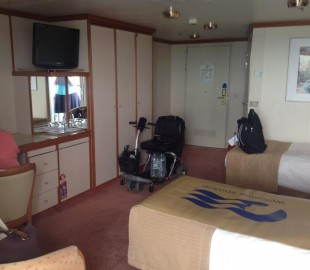 Adapted cabin on princess ships