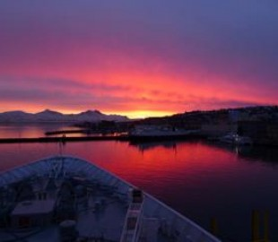 Norway sunset from Boudicca feb 14
