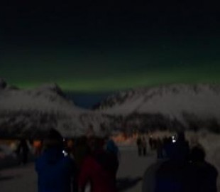 Northern Lights near Tromso feb