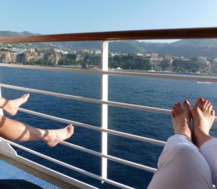 Relaxing on the wonderful Ocean Princess, Sunday afternoon, off the coast of Sorrento, Italy - oh how blissful it was