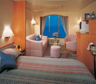 A Suite onboard the Norwegian Dream