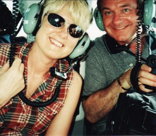 Emerald cruise excursion helicopter ride in the Caribbean 1999